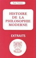 Photo Histoire de la philosophie moderne (<em>extraits</em>)