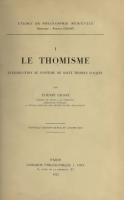 Photo Le thomisme